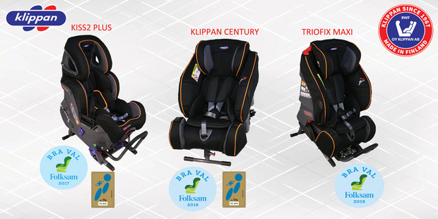 Seats tested by Folksam and obtained the Good Choice label.